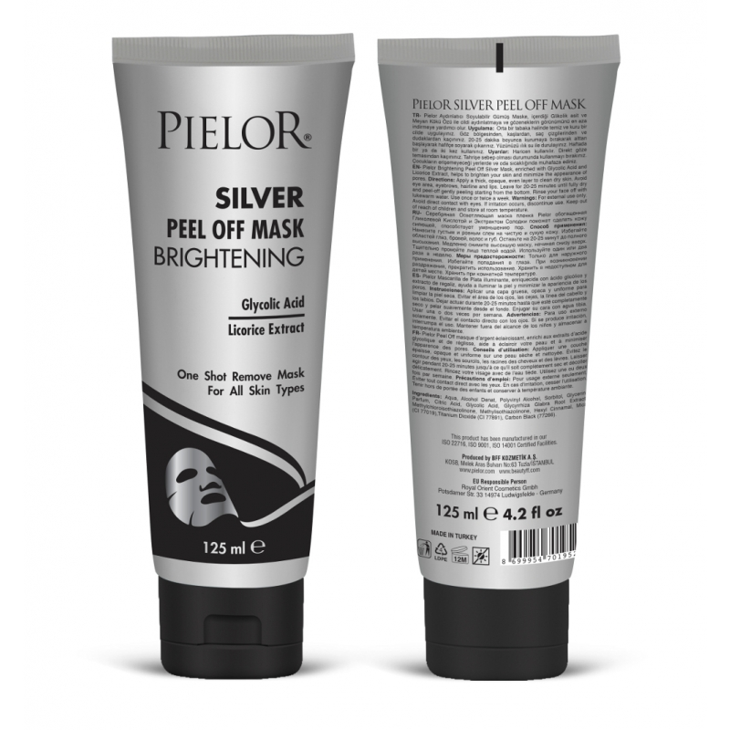 Pielor Brightening Peel-Off Silver Mask